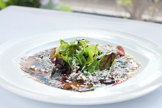 Herzlia, Israel: Carpaccio of beef fillet