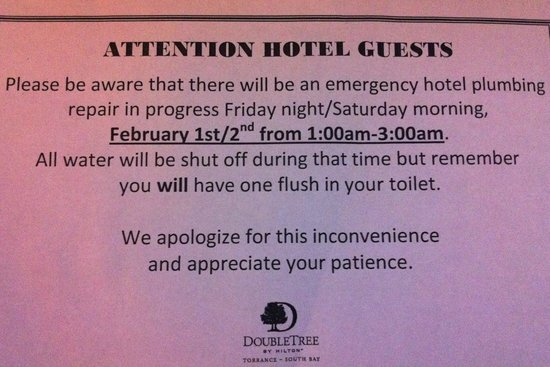 Doubletree by Hilton Hotel Torrance/South Bay: Oh no!
