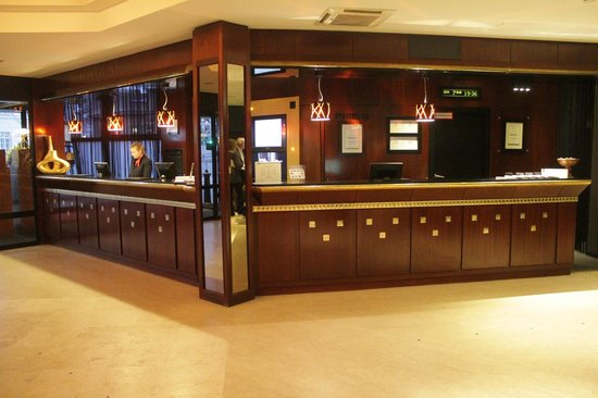 Hotel am Konzerthaus: The reception desk