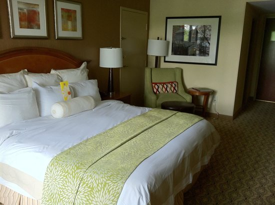 Evergreen Marriott Conference Resort: Balcony room on Stone Mountain Lake