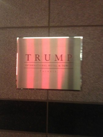 Trump International Hotel & Tower Toronto: Trump plaque