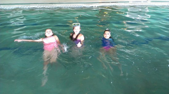 Old Saybrook, CT: The girls in the indoor pool.
