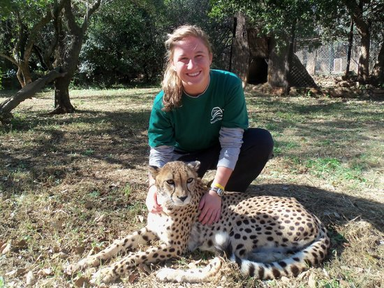 Gauteng, South Africa: Me and everyone's favorite cheetah, Scarlett