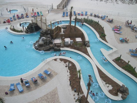 Holiday Inn Resort Pensacola Beach Gulf Front: POOL view from my balcony