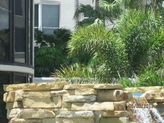 Pointe Estero Beach Resort: waterfall above hot tub and pool area