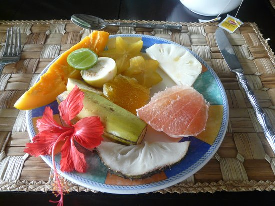 Firefly Plantation Hotel Bequia: Breakfast Fruit Platter