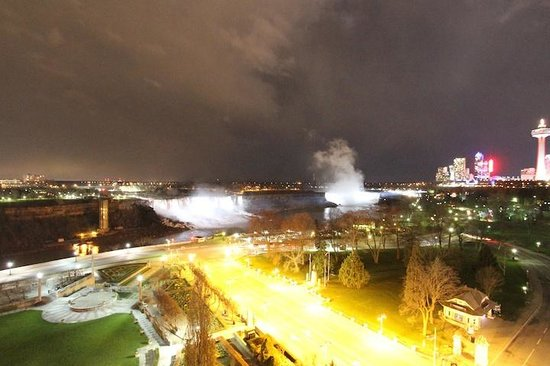 Sheraton on the Falls: View from our room at night.