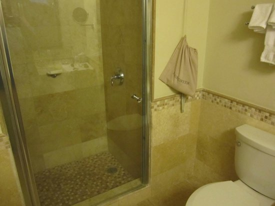 Caribe Hilton San Juan: Walk-in shower