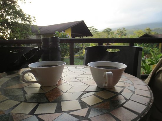 Hotel Campo Verde: Morning coffee on the room&#39;s private (though near others) porch