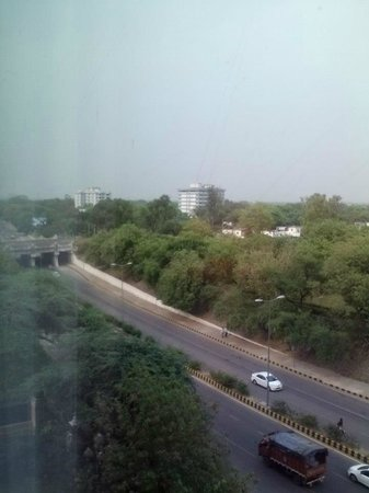 The Leela Palace New Delhi: View from third floor facing road.