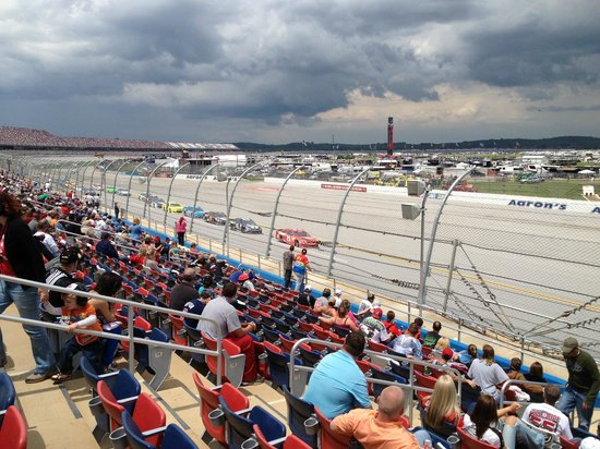 Talladega, : View from row 17 Talladega grandstand