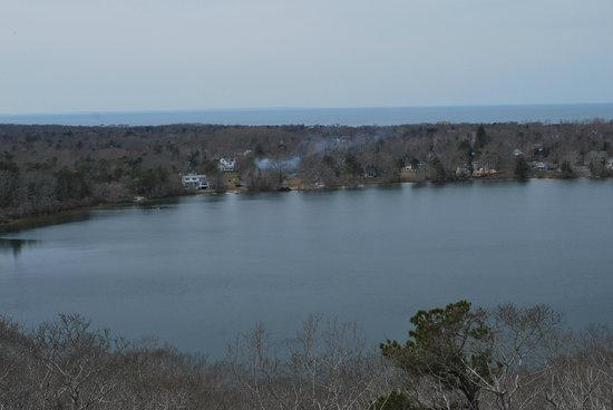 Dennis, MA: view of Scargo lake