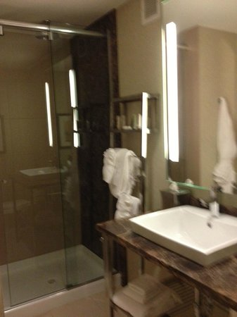 Moonrise Hotel: Nice stone shower & counter