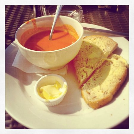 Lancashire, UK: Red Pepper Soup to start