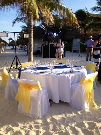 Azul Beach Hotel, by Karisma: Set up for our friend's destination wedding