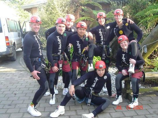 Waitomo Caves, นิวซีแลนด์: Our group, ready for Black Water Rafting