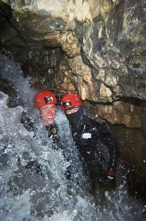 Waitomo Caves, New Zealand: Underground Waterfall