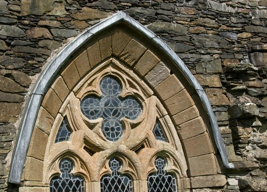 Newton Stewart, UK: Gothic window