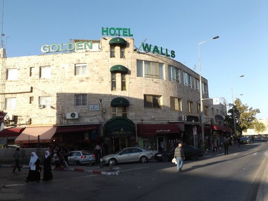 Hotel From Accross The Road Picture Of Golden Walls Hotel Jerusalem Tripadvisor