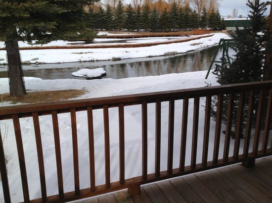 Rustic Inn Creekside Resort and Spa at Jackson Hole: View from my cabin porch!! Exactly what I needed!! Peaceful!