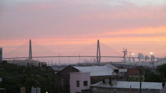 View from our French Quarter Inn room balcony at sunrise