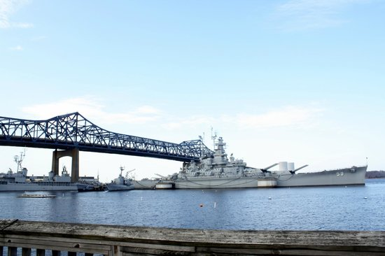 Fall River, MA: The Braga Bridge and USS Massachusetts