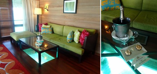 The St. Regis Bora Bora Resort: living room