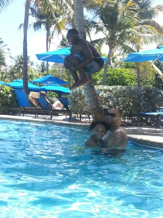 Wyndham Grand Rio Mar Beach Resort &amp; Spa: My husband and kids at the pool