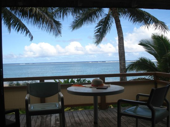 Vaimaanga, Cook Islands: View of water from our porch