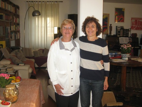 Aurelio Aquilone B&B: Francesca -the best host of all and Jane the guest from USA