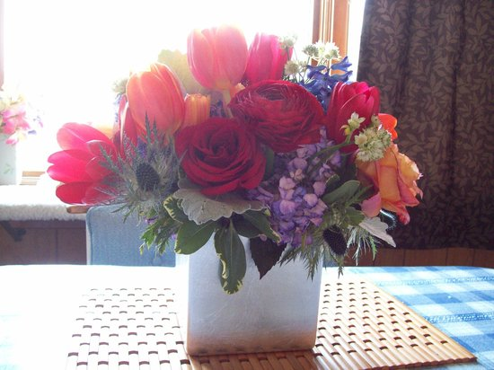 Danvers, MA: My birthday flowers
