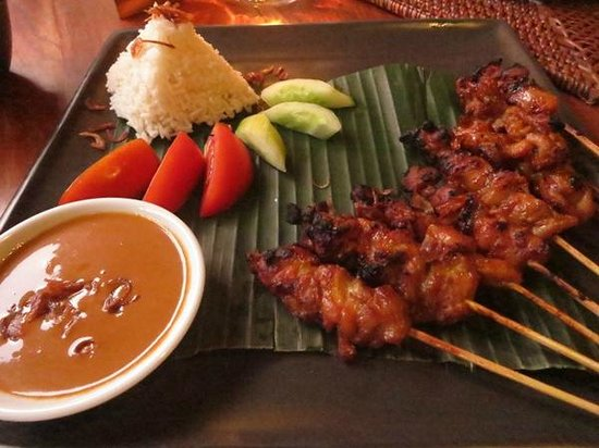 ‪‪Junjungan Ubud Hotel and Spa‬: Sate (dinner)‬