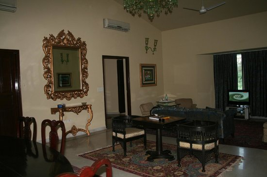 Dhaulpur, India: The living room of our suite