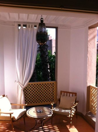 Les Jardins de la Medina: our balcony