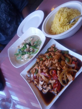 Concord, Canada: chicken cashew, green curry & egg noodles