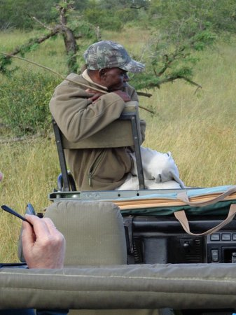 Shindzela Tented Safari Camp: Jolly good Tracker John... and his stick!