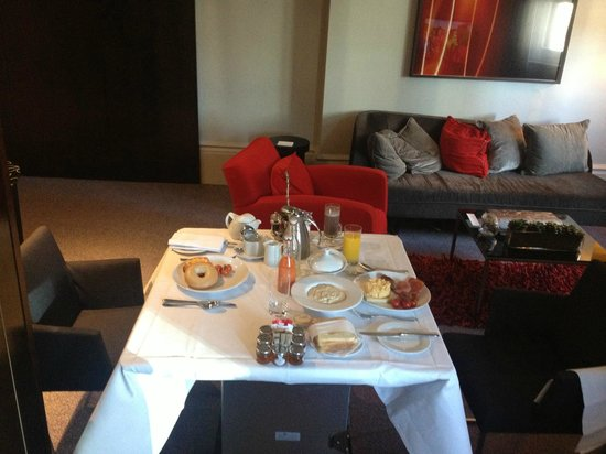 Andaz Liverpool Street: Breakfast served in room