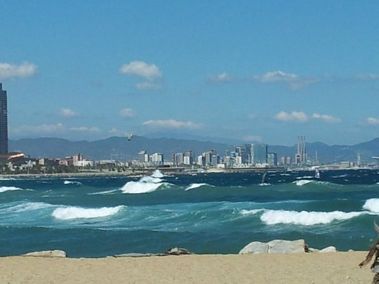 W Barcelona: Great waves on the beach