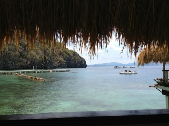 El Nido Resorts Miniloc Island: View from balcony of Water Cottage