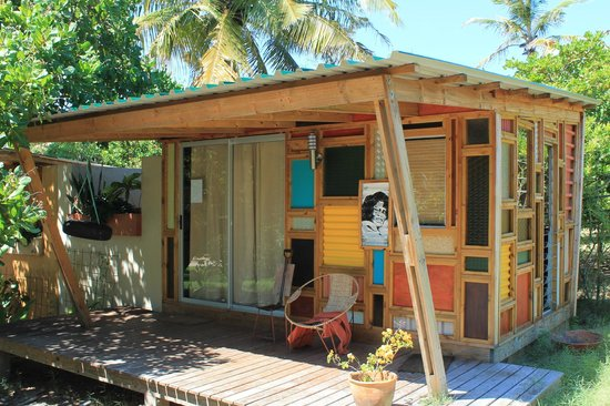 Tofo, Mosambik: The cabin I have slept in