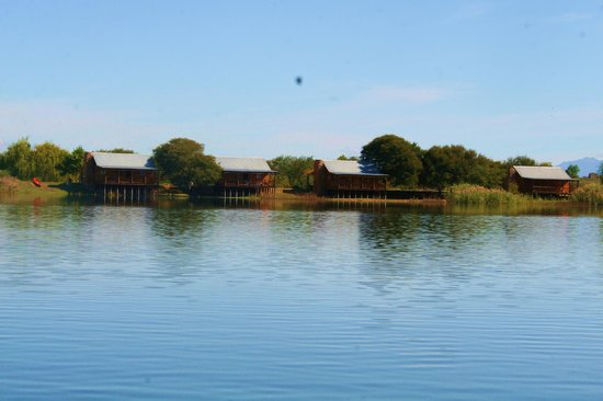 De Zeekoe Guest Farm: Lake full of water at the cabins