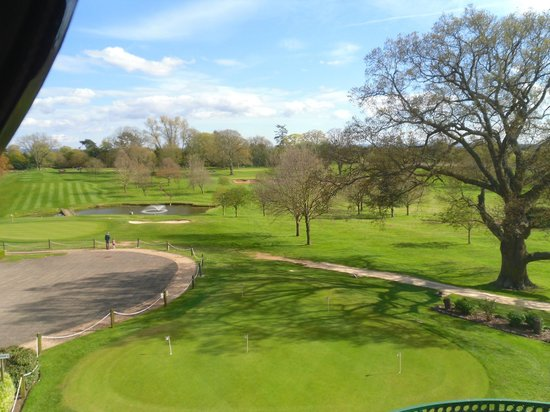Hilton Puckrup Hall, Tewkesbury : View looking out over putting green