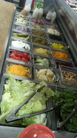 North Fort Myers, FL: fresh salad bar.