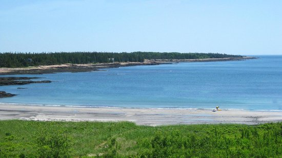 Prospect Harbor, ME: The dunes and beach at Acadia Oceanside Meadows Inn