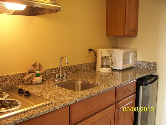 Camelot Motel : small but perfect kitchen for our summer holiday 