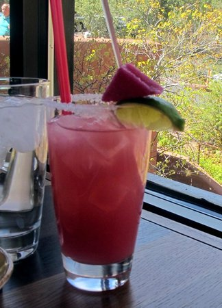 Enchantment Resort: prickly pear margarita their specialty