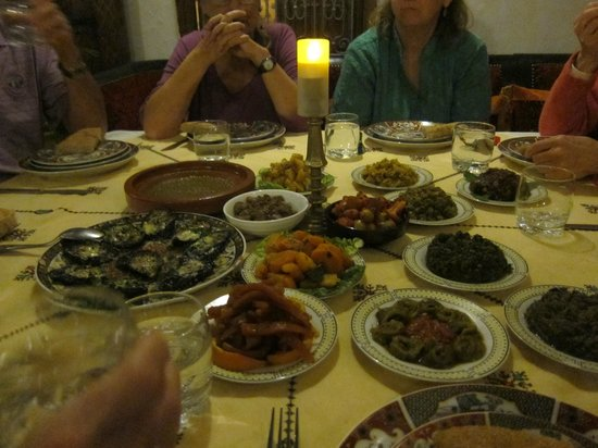 Riad Dar Dmana : A fine assortment of dinner treats 