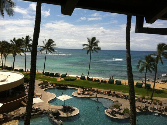Sheraton Kauai Resort: From Hotel Room Balcony - 4th FLoor