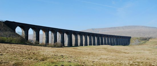 Yorkshire del nord, UK: ribblehead viaduct