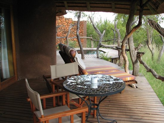 Madikwe Safari Lodge: Patio of room 8